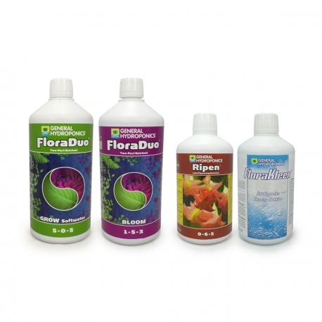 GHE - Pack engrais FloraDuo - eau douce - Grow & Bloom
