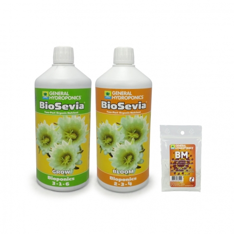 GHE - Pack engrais BioSevia - Grow & Bloom Litre