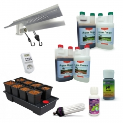 Kit de culture Hydroponique Wilma 8 Wide + engrais Canna