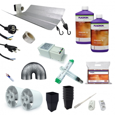 Kit de culture coco Plagron + éclairage 600W