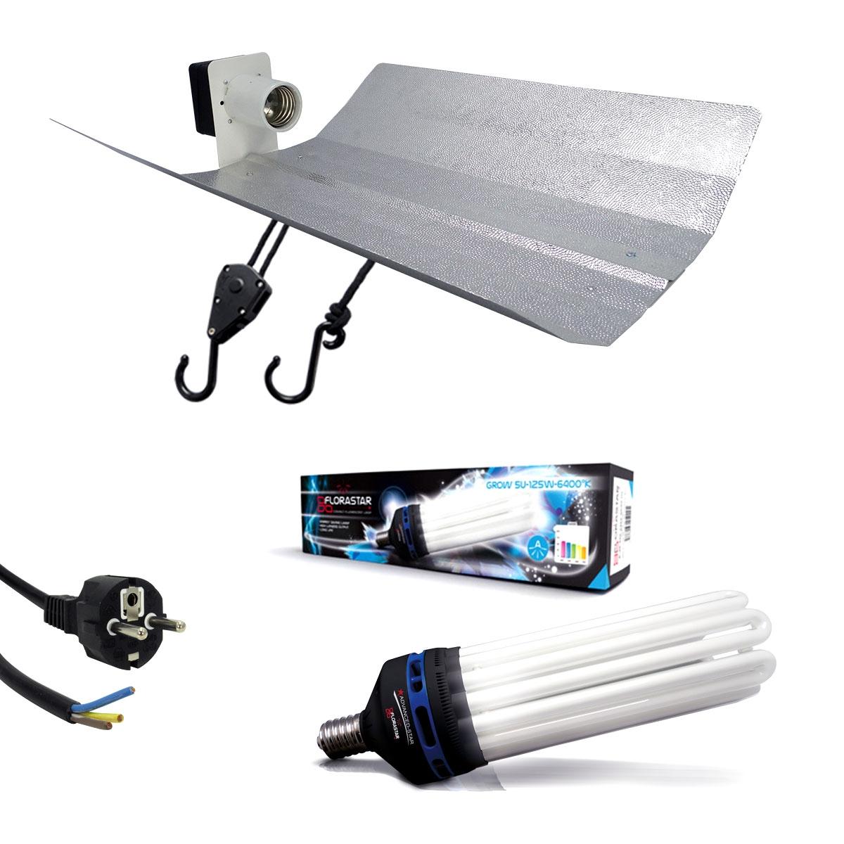 kit ampoule cfl125 w croissance 6400 k et r flecteur. Black Bedroom Furniture Sets. Home Design Ideas