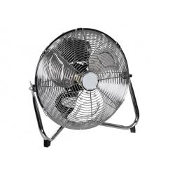 Ventilateur chromé 90W - 3 vitesses - diamètre 40 cm