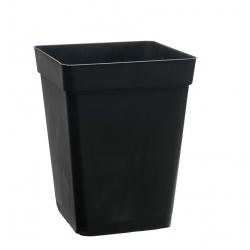 Pot carré noir 11 litres - 23 x 23 x 27,5cm