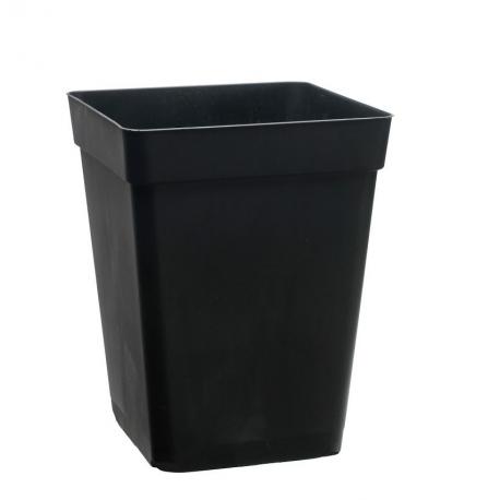 Pot carré noir 11 litres - 23 x 23 x 27,5cm - PASQUINI & Bini