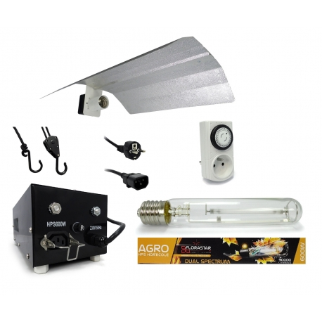 Kit lampe 600W Black Box - Agro Florastar