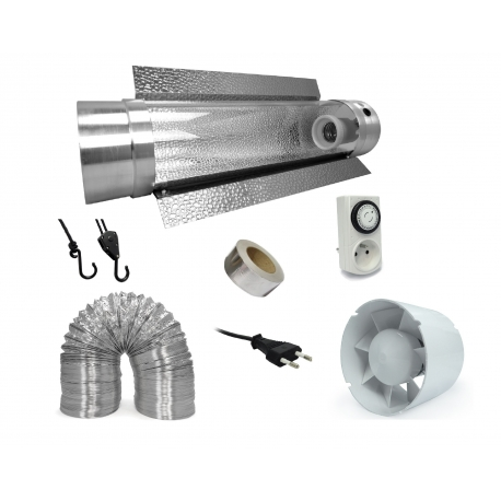 Pack réflecteur Cooltube + extracteur 190 m3/h - Florastar