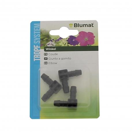 BLUMAT COUDES POUR TUBES 8 mm - BLISTER DE 3 pièces