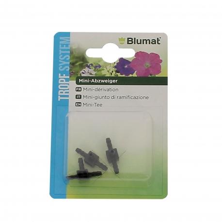BLUMAT CONNECTEURS - MINI BRANCH- 3 mm - BLISTER DE 3 pièces