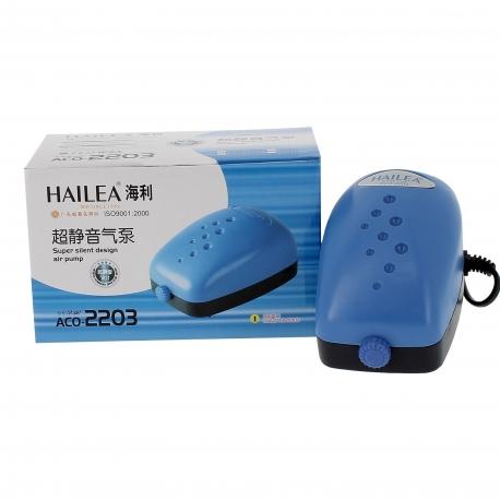 Pompe à air HAILEA ACO-2203 - 1 sortie 2 litres/minute - 2.5W