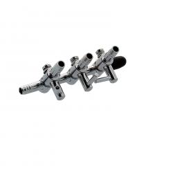 Diviseur d'air en acier 3 sorties avec valve - HAILEA