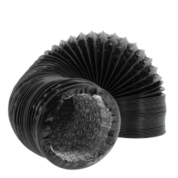 Gaine de ventilation alu et PVC de diamètre 204mm