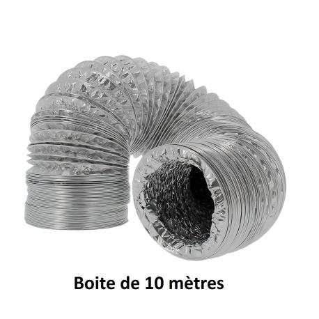 Gaine alu doublée 150mm - boite de 10 mètres
