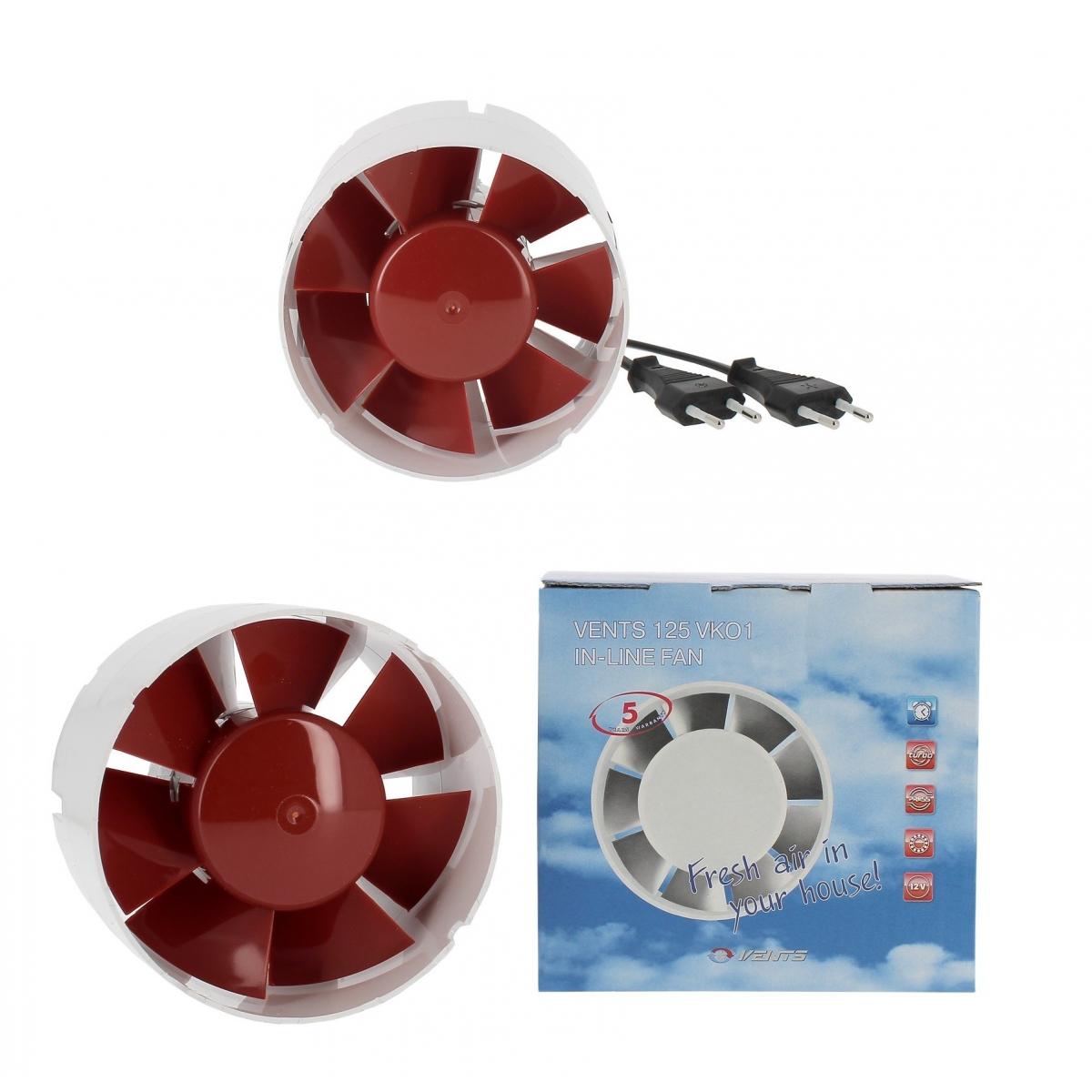 190m3//H AVEC Cable et prise electrique 2x 125mm HYDROPLANETE Pack de 2 Extracteur//Intracteur de gaine 100mm 125mm 150mm pour Conduits de Ventilation//A/ération