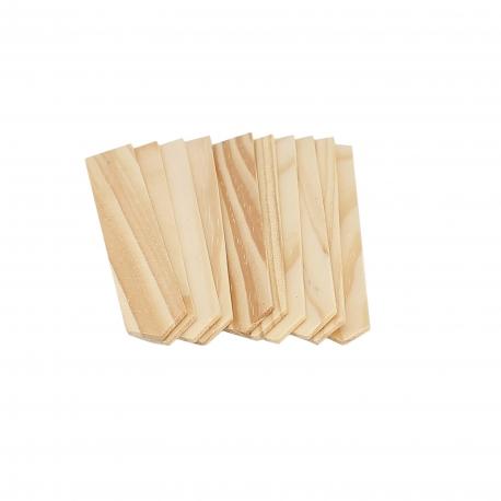 Etiquettes pour plantes en bois naturel - Lot de 10 - GARLAND