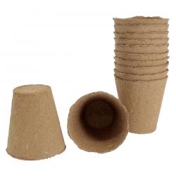 Lot de 12 godets en fibre pour semis et boutures