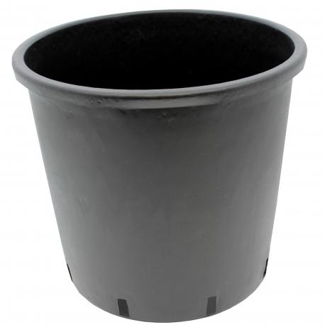 Pot rond en plastique noir de 15 litres - 28 x 28 cm