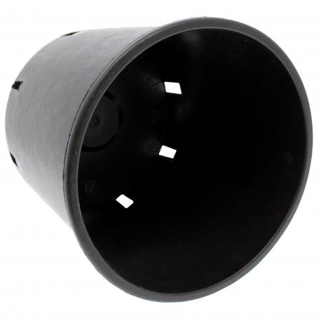 Pot de fleur rond noir de 10 litres - 24 x 24 cm