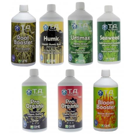 Pack engrais Pro Organic litre - Terra Aquatica