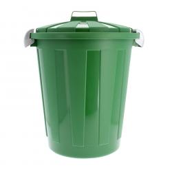 Poubelle en plastique avec couvercle de 45 litres