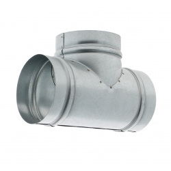 Té pour conduit de ventilation rond de diamètre 125mm