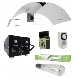 Kit lampe 600W avec ballast Black Box et réflecteur ajustable