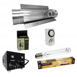 Kit HPS 600W équipé cooltube - lampe Agro Florastar 90 000 lumens