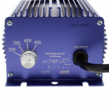 Ballast électronique Lumatek 400W avec switch de puissance