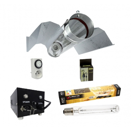 Kit lampe Bat cooltube 400W Florastar et Black Box