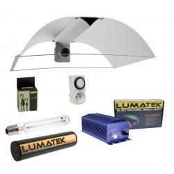 Kit HPS double spectre 400W Lumatek - réflecteur Pearl Pro XL