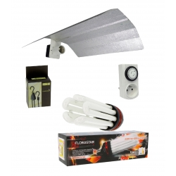 Kit lampe éco 125W floraison - CFL Florastar