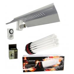 Kit éclairage éco floraison - CFL 300W Florastar + réflecteur
