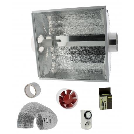 Kit anti-chaleur 305m3/h - réflecteur vitré + extracteur 150mm Florastar
