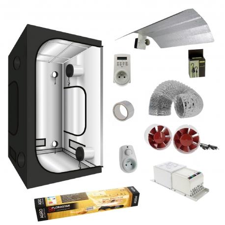 Pack tente G-Max 120x120x200cm + lampe HPS 400W Florastar