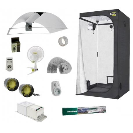 Pack tente 120x120x200cm - éclairage HPS 400W Grolux Sylvania