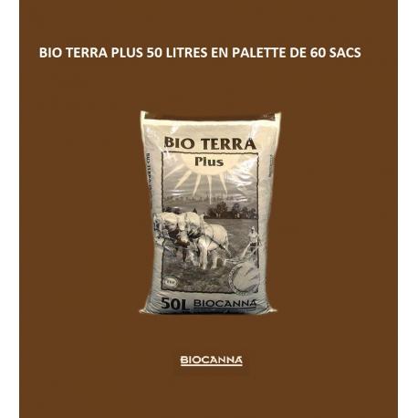 BIOCANNA TERRA PLUS 50 litres en palette de 60 sacs