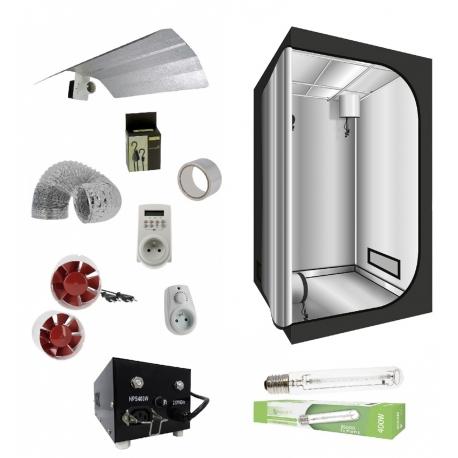 Pack tente G-Light 100x100x200cm + HPS 400W Agrolight