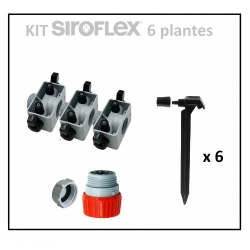 Kit irrigation 6 plantes SIROFLEX