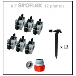 Kit irrigation 12 plantes SIROFLEX