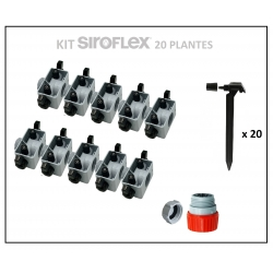 Kit irrigation 20 plantes SIROFLEX