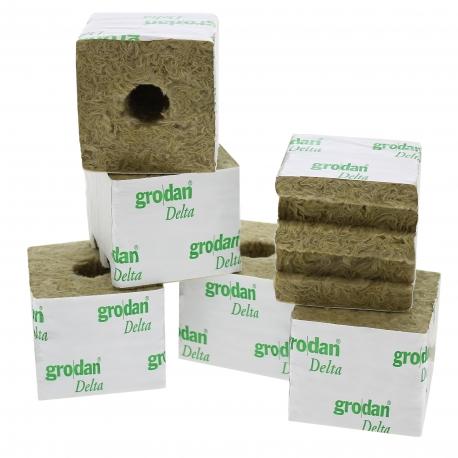 Cube de laine de roche Grodan 7.5x7.5cm