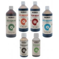 Gamme engrais organique en litre Biobizz
