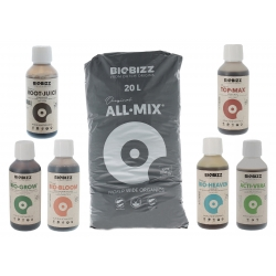 Pack All Mix Biobizz 20 litres + engrais