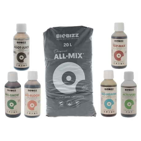 Pack All Mix Biobizz 20 litres + engrais