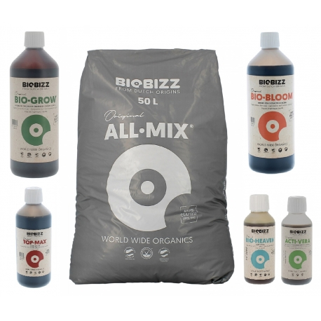 Pack All.Mix 50 litres Biobizz + engrais