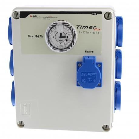 Timer box GSE 6x600W avec prise chauffage