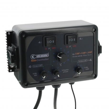 Contrôleur de ventilation Twin Controller Cli-Mate
