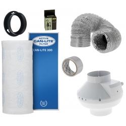 Kit filtration Can-Lite 300 + extracteur 355m3/h - Diamètre 125mm