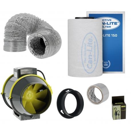 Pack anti-odeurs Can-Lite 150 + extracteur TT Max 187m3/h
