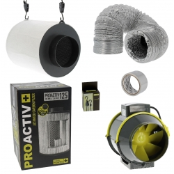 Pack filtre Proactiv 125mm et Extracteur TT-Max 280m3/h
