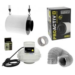 Kit anti-odeurs 360m3/h + filtre à charbon Proactiv 125mm